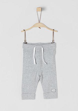 Kalhoty zjemné pleteniny se sametovou páskou