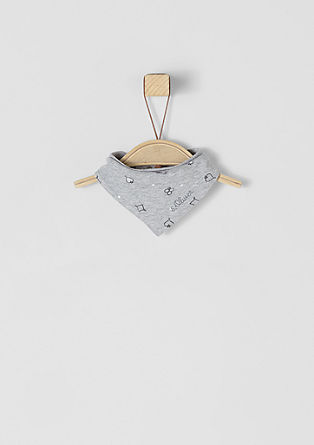 Bandana bib with a press stud from s.Oliver