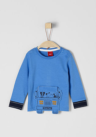 Long sleeve top with a bus appliqué from s.Oliver