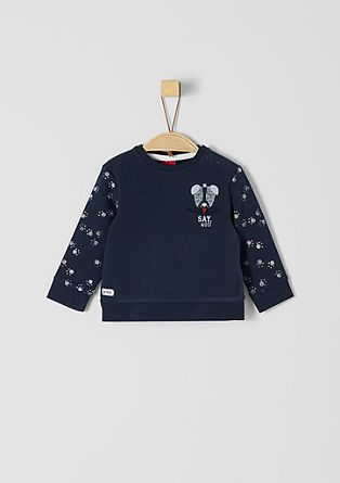 Sweatshirt with a paw print   from s.Oliver