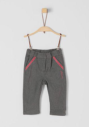 Flanelové kalhoty s elastickým pasem