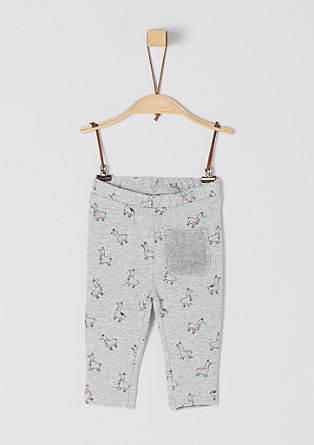 Sweatpants im Drama-Lama-Design