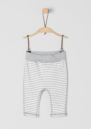 Reversible trousers with stripes from s.Oliver