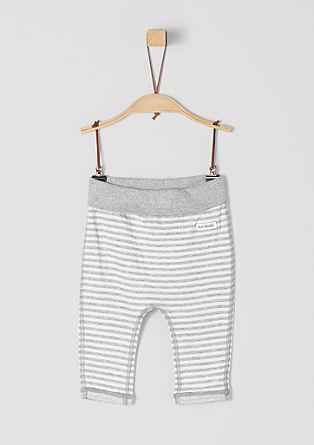 Oboustranné kalhoty s proužky