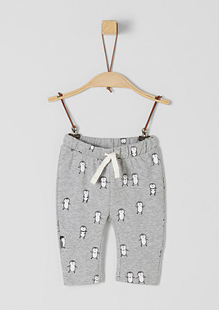 Joggingbroek met pinguïnprint