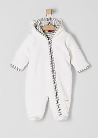 Padded velour romper suit  from s.Oliver
