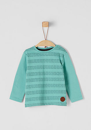 Gemustertes Longsleeve mit Patches