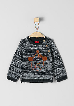 Knitted jumper with bear artwork from s.Oliver