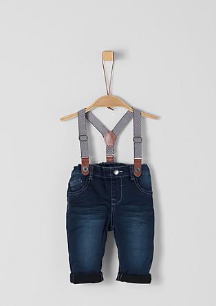 Warm jeans with braces from s.Oliver