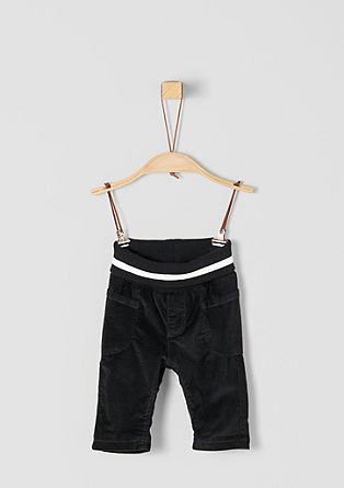 Manšestrové kalhoty s podšívkou