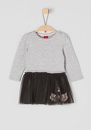 Kleid mit besticktem Tüllrock