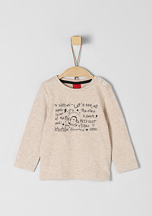 Long sleeve top with lettering from s.Oliver