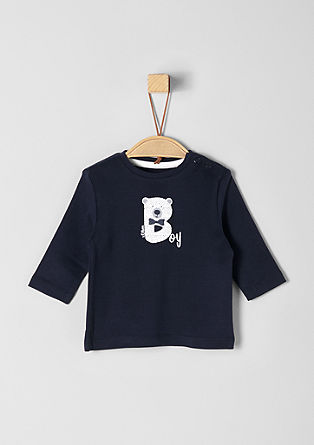 Langarmshirt mit Rubber Print