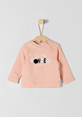 statement sweatshirt with an artwork from s.Oliver
