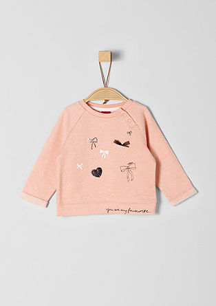Sweatshirt with appliqués from s.Oliver