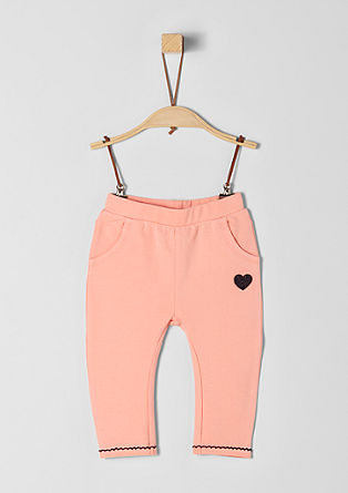 Sweatbroek met applicatie