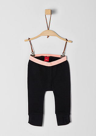 Leggings with a glitter waistband from s.Oliver