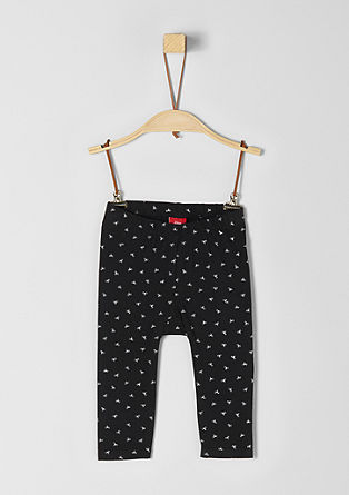 Leggings with bow pattern from s.Oliver