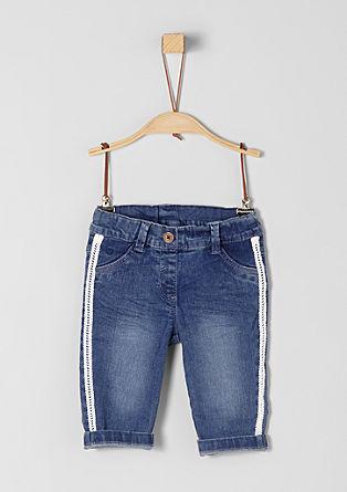 Jeans mit Spitzenborten