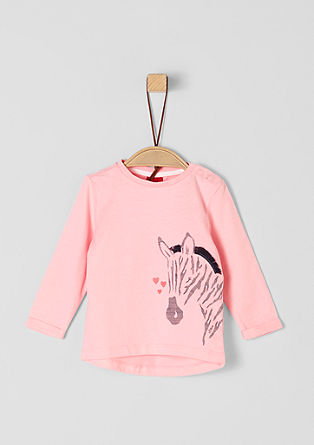 Long sleeve top with a zebra motif from s.Oliver