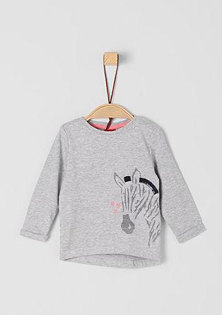 T-shirt à manches longues à motif zèbre de s.Oliver