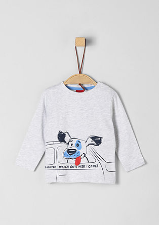Long sleeve top with dog artwork from s.Oliver
