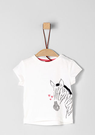 T-shirt with a zebra motif from s.Oliver