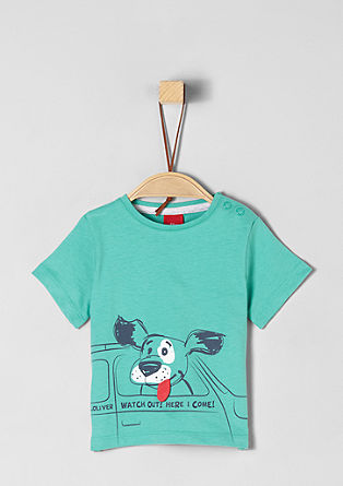 T-shirt with dog artwork from s.Oliver
