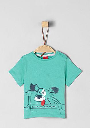 Majica kratek rokav z umetniškim motivom psa