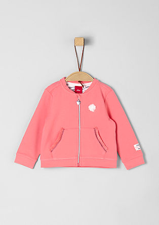 Sweatshirt jacket with cute details from s.Oliver