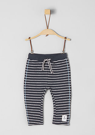 Striped jacquard trousers from s.Oliver