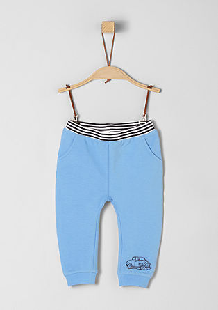 Tracksuit bottoms with a striped waistband from s.Oliver