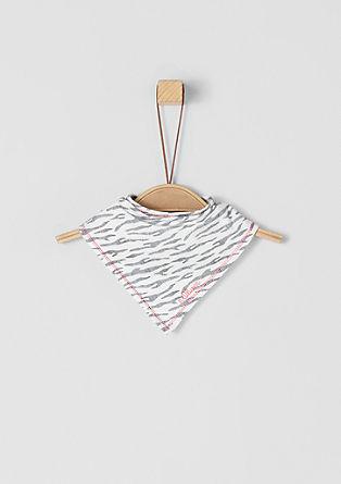 Driehoekig sjaaltje met zebramotief