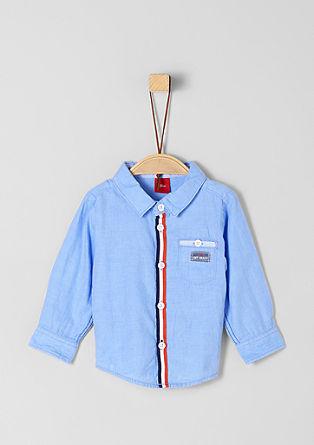 košile s podsádkou z rypsové pásky