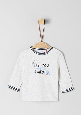 T-shirt à manches longues et inscription de s.Oliver