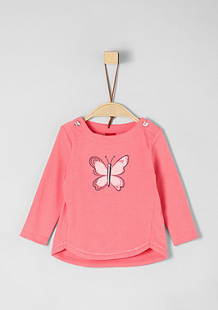 Langarmshirt mit Butterfly-Artwork