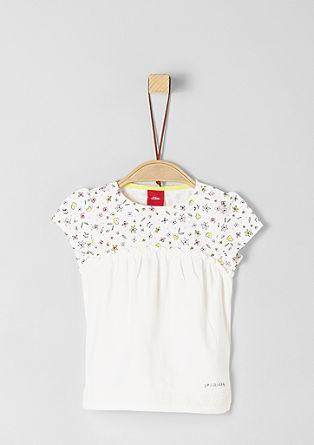 T-shirt met millefleurs-detail