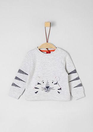 Sweatshirt met motief op de zak