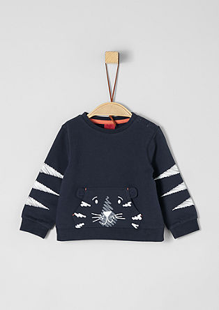 Sweatshirt with a motif pocket from s.Oliver