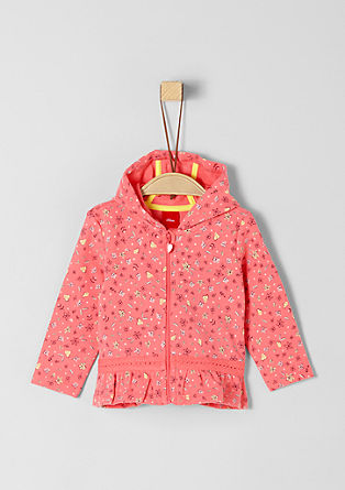 Millefleurs sweatshirt jacket with a hood from s.Oliver