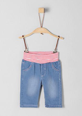 Jeans hlače z udobnim pasom