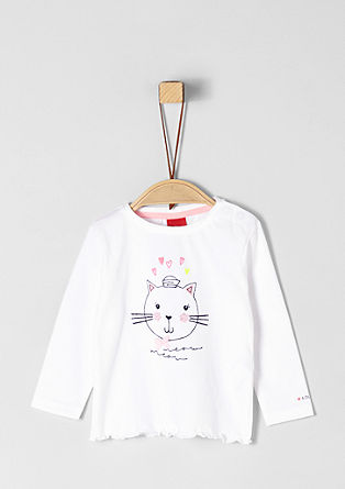 Long sleeve top with cat artwork from s.Oliver