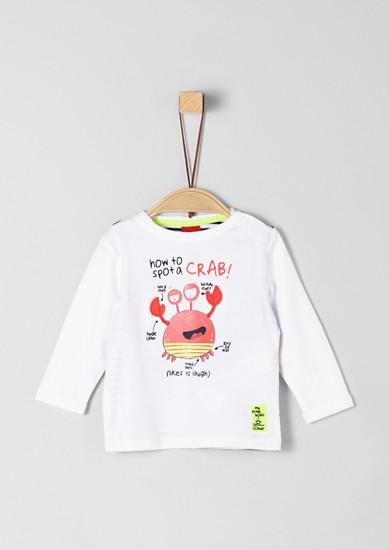 Longsleeve met krab als artwork