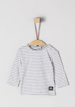Gestreept jersey shirt