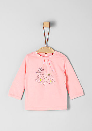 Long sleeve T-shirt with puffer fish motif from s.Oliver