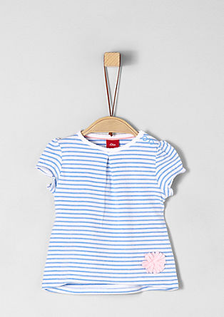 Striped top with an appliqué from s.Oliver