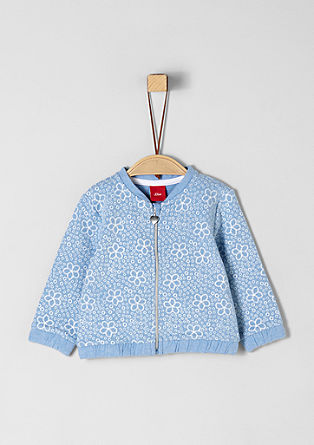 Sweatshirt jacket with a floral pattern from s.Oliver