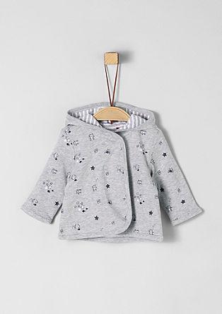 Omkeerbaar vest van interlock-jersey