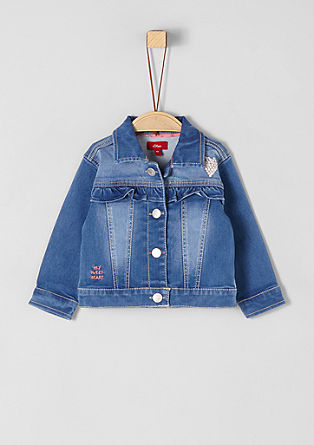 Denim jacket with frills from s.Oliver