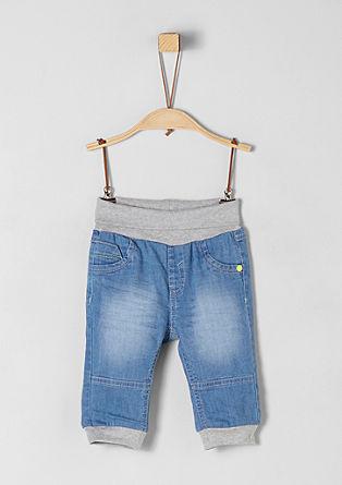 Lichte jeans met boordjes